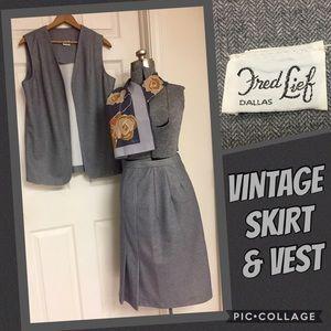 VINTAGE skirt & VEST set